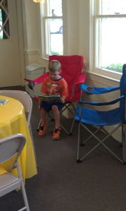 Special reading areas provide students comfortable options for completing their work.