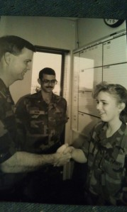 Promotion ceremony at 100th Division, 1990