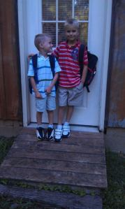 Nate and Wesley Goodale on the first day of school.